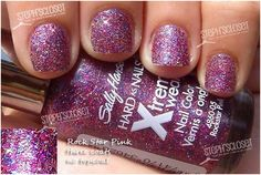 sally hansen rockstar pink nail polish