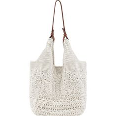 The Sak McClaren Tote (91 AUD) ❤ liked on Polyvore featuring bags, handbags, tote bags, fabric handbags, tan, white wristlet, clear plastic tote bags, handbags purses, hand bags and tan tote bag