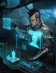 Online Research by Jessada Suthi – Cyberpunk Gallery Cyberpunk 2077, Cyberpunk City, Cyberpunk Kunst, Cyberpunk Aesthetic, Futuristic Art, Futuristic Technology, Space Opera, Arte Sci Fi, Sci Fi Rpg