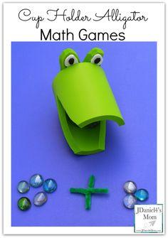 Cup Holder Alligator Math Games