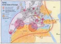 Mapping Europe's war on immigration , by Philippe Rekacewicz (Le Monde diplomatique - English edition, October Across The Border, Map Globe, Europe, English, Tsunami, Alter, Blog, Africa, War