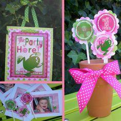 Girly Frog Birthday Party