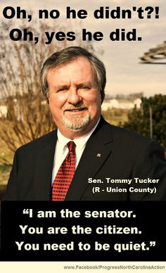 NC republicans. Seems someones letting the power the PEOPLE GAVE to him get to his ego.