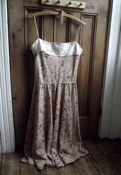 Vintage sun dress, with vintage lace.