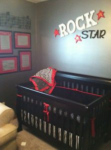 Rockabilly Baby Bedding Punk Tattoo Skull Crib Set Made To Order