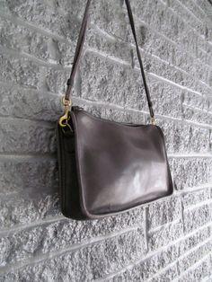 Vintage Authentic Black Leather COACH Purse Clutch - Shoulder Bag or Clutch with Wrist Strap. $60.00, via Etsy.
