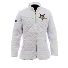 Diamond Quilt Padded Jacket for Order of the Eastern Star