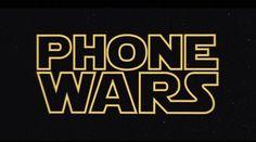 Phone Wars: una pequeña parodia sobre la batalla entre teléfonos inteligentes con la temática de Star Wars.