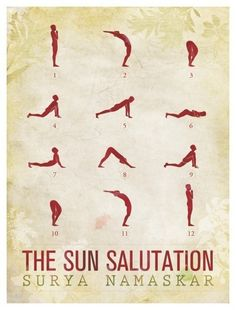 sun salutation - this isn't the surya namascar I normally do, but I like the low lunge variation here.