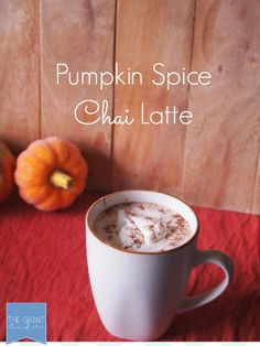 Pumpkin Spice Chai Latte.  Perfect for fall and better then Starbucks!