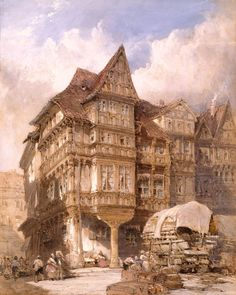 William Callow, Albrecht Durer's House at Nuremberg, 1875.