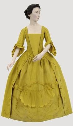 Robe a la francaise, 1750's-60's  From Glasgow Museums