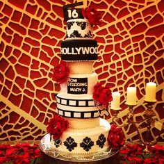Old Hollywood themed sweet 16 cake by me!