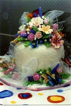 flower cake - via @Craftsy