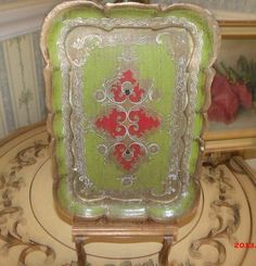 Italian Florentine Tray Hollywood Regency Old by chictrezures, $32.00 want to serve drinks on this beauty