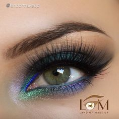 So colorful by @landofmakeup using Motives gel eyeliner in LITTLE BLACK DRESS!! ______________________________________ All #motives products are available for US/CAN at www.MOTIVESCOSMETICS.com or internationally at Global.Shop.com #motd #motivescosmetics #makeup #beauty #glam #mua #eotd