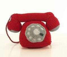 Crochet pattern telephone -  amigurumi telephone pattern - Instant Download PDF by Bigunki
