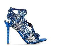 Blue Crystal Chloris Sandal A41550 Bridal Colors italian shoes designer Sergio Rossi #sergiorossibridal #sergiorossisandals #sergiorossinewyorktimes