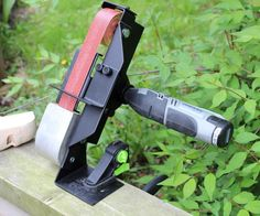 I made a small sander attachment to be used with my dremel rotary tools.Sander can be mounted to my diy dremel lathe, or it can be used without it. Its light weighted and easy to take outside, i like to work outside in the summer, so good mobility is a bonus. With cordless dremel it really is very mobile.