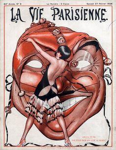 La Vie Parisienne 1926 Illustration by Armand Vallee