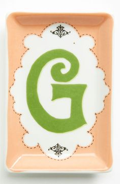 Porcelain Typography Tray G One Size