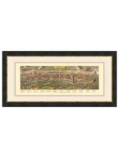 Historial Maps and Prints  Hand-Colored Harbor View of Rome