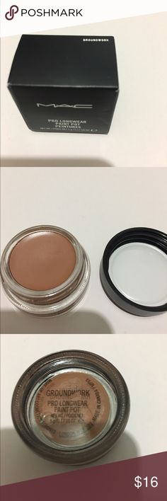 "MAC Paint Pot MAC Paint Pot in ""Groundwork"". 2 available  New with box MAC Cosmetics Makeup Eyeshadow"