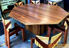 Alisa entrusted her prized possession to us - an incredibly detailed handmade dining setting that was built for a trade show many years ago and found a new home with Alisa and her family. It has been rebuilt, improved in places by our master craftsmen assisting with better structural design on the chairs and is about to have its final repolish ready for return.  http://renownedfurniture.com.au/restoration/alisas-dining-set/  #diningsuite #restoration