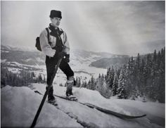 (Bring my old skis for one photo grouping?) Single pole traditional Norwegian telemark skiing: Morgedal  / Western Telemark /