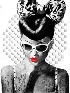 Just thought this was really cute...black and white picture...with red lips..