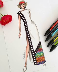 Dress Designs Drawing Artists - Fashion Show Dress Design Drawing, Dress Design Sketches, Fashion Design Sketchbook, Fashion Design Drawings, Dress Drawing, Fashion Sketches, Dress Designs, Drawing Clothes, Fashion Drawing Dresses