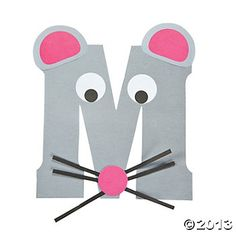 """M Is For Mice"" Letter M Craft Kit.this is so cute to do with every letter and then make a book out of them at the end of the alphabet accept lower case please we read in lower case so we teach in lower case Letter M Activities, Preschool Letter Crafts, Alphabet Letter Crafts, Abc Crafts, Preschool Projects, Alphabet Book, Daycare Crafts, Preschool Crafts, Letter Art"