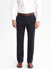 Tailored Slim-Fit Navy Italian Wool Suit Trouser