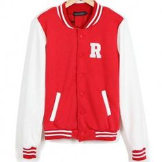 Letter R High School Red Jacket for Girls