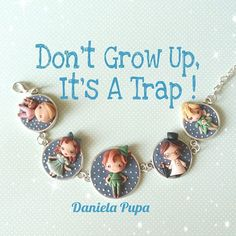 WEBSTA @ danielapupa - #peterpan #handmade #bracelet #danielapupa #polymerclay #jewels