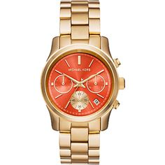 Michael Kors Watch Channing Watch ($250) ❤ liked on Polyvore featuring jewelry, watches, accessories, rose gold bracelet, red gold jewelry, bracelet watches, brown watches and dial watches