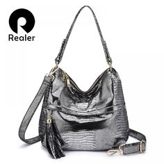 Buy Realer handbags women messenger shoulder bag for fashion ladies cross-body bags female PU leather Tassel Serpentine high quality Leather Tassel, Leather Crossbody Bag, Pu Leather, Crossbody Bags, Artificial Leather, Types Of Bag, Hobo Bag, Handbags, Lady