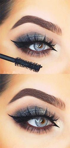 This is such a great look for accentuating light blue/grey eyes! x
