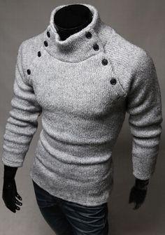 SLS Distributors Men's Boutique, LLC - Asymmetrical Button Sweater, $21.89 (http://www.slsdistributors.com/asymmetrical-button-sweater/)
