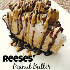 Peanut Butter Pie This Reese's Peanut Butter Pie is sure to knock your socks off. With a delicious no-bake peanut butter cheesecake filling and topped with Reese's Miniatures, you can't go wrong with this easy dessert.Socks (disambiguation) Socks are item 13 Desserts, Brownie Desserts, Delicious Desserts, Yummy Food, Birthday Desserts, Mexican Desserts, Easy No Bake Desserts, Ice Cream Desserts, Cheesecake Desserts