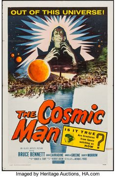 """Movie Posters:Science Fiction, The Cosmic Man (Allied Artists, 1959). One Sheet (27"""" X 41"""").Science Fiction.. ..."""