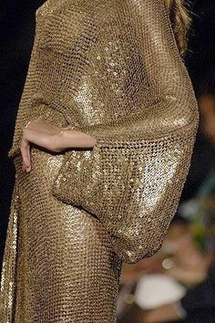 Dripping in metallic gold sequins
