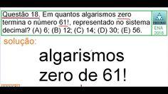 CURSO DE MATEMÁTICA PROFMAT 2016 SOLUÇÃO QUESTÃO 18 EXAME NACIONAL DE AC...