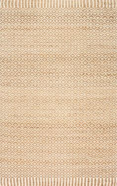 Classic and cool! This is Rugs USA's Maui NT25 Jute Bird's Eye Rippled Edge Rug!
