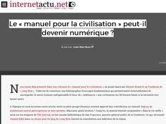 Le « manuel pour la civilisation » peut-il devenir numérique ?