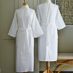 513780825c Edison Bath Robe by SFERRA is lightweight - in a cool waffle weave texture  - and