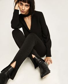 Image 6 of DOUBLE-SIDED TROUSERS from Zara