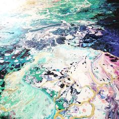 感情の海。深く美しい色彩が波のように漂う抽象絵画 (5)