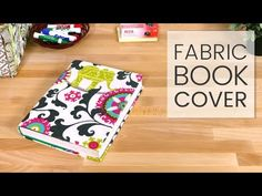 How to Make a Fabric Book Cover - YouTube
