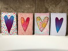 Show your love by making your own Valentine Fabric Postcards! Fabric postcards are little pieces of art that the recipients can display and enjoy, and they are so fun to make! Fabric Cards, Fabric Postcards, Diy Postcard, Printable Postcards, Sewing Cards, Textile Fiber Art, Les Sentiments, Artist Trading Cards, Valentine Crafts